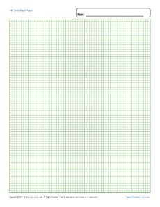 Printable Graph Paper   1/8 inch Grid | Free Blank Template