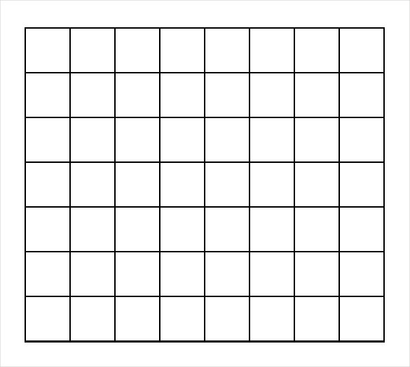 Free Printable 1 Inch Grid Paper | Graph Paper