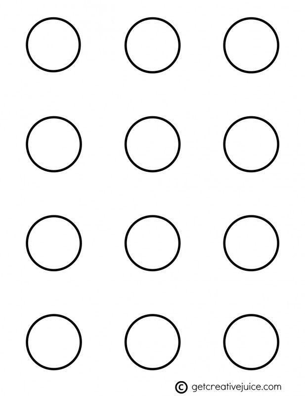 Printable 1 Inch Macaron Template Circle cakepins.| macaron