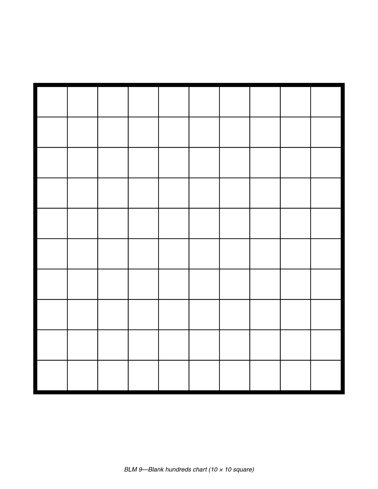 Printable Blank 100 Square Grid | Math | Pinterest | 100 grid