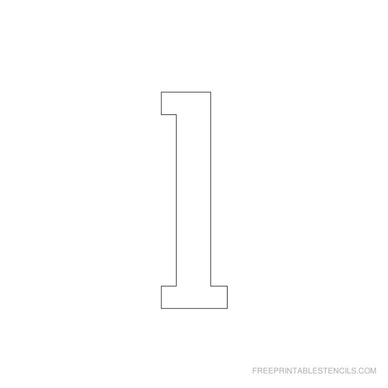 Printable 2 Inch Number Stencils 1 10 | Free Printable Stencils
