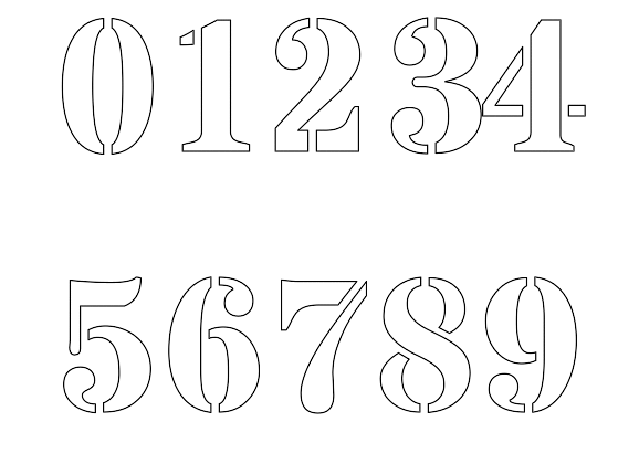 Free printable number stencils for painting : Freenumberstencils.com