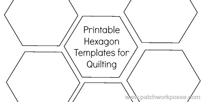 4 Inch Hexagon Template Printable