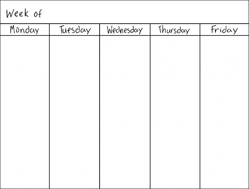 5 Day Weekly Planner Printable – a Short Outline – Planner
