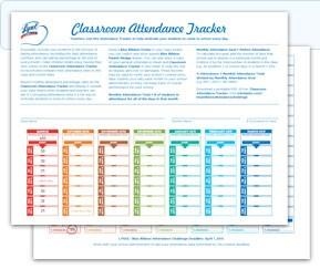 Attendance Tracker Printable | shop fresh