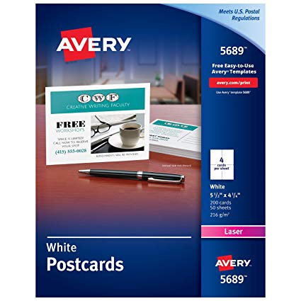 Amazon.: Avery Printable Holiday Invitation Cards for Laser