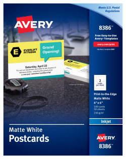 Avery Printable Postcards 4