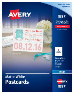 Avery Printable Postcards 4 1/4