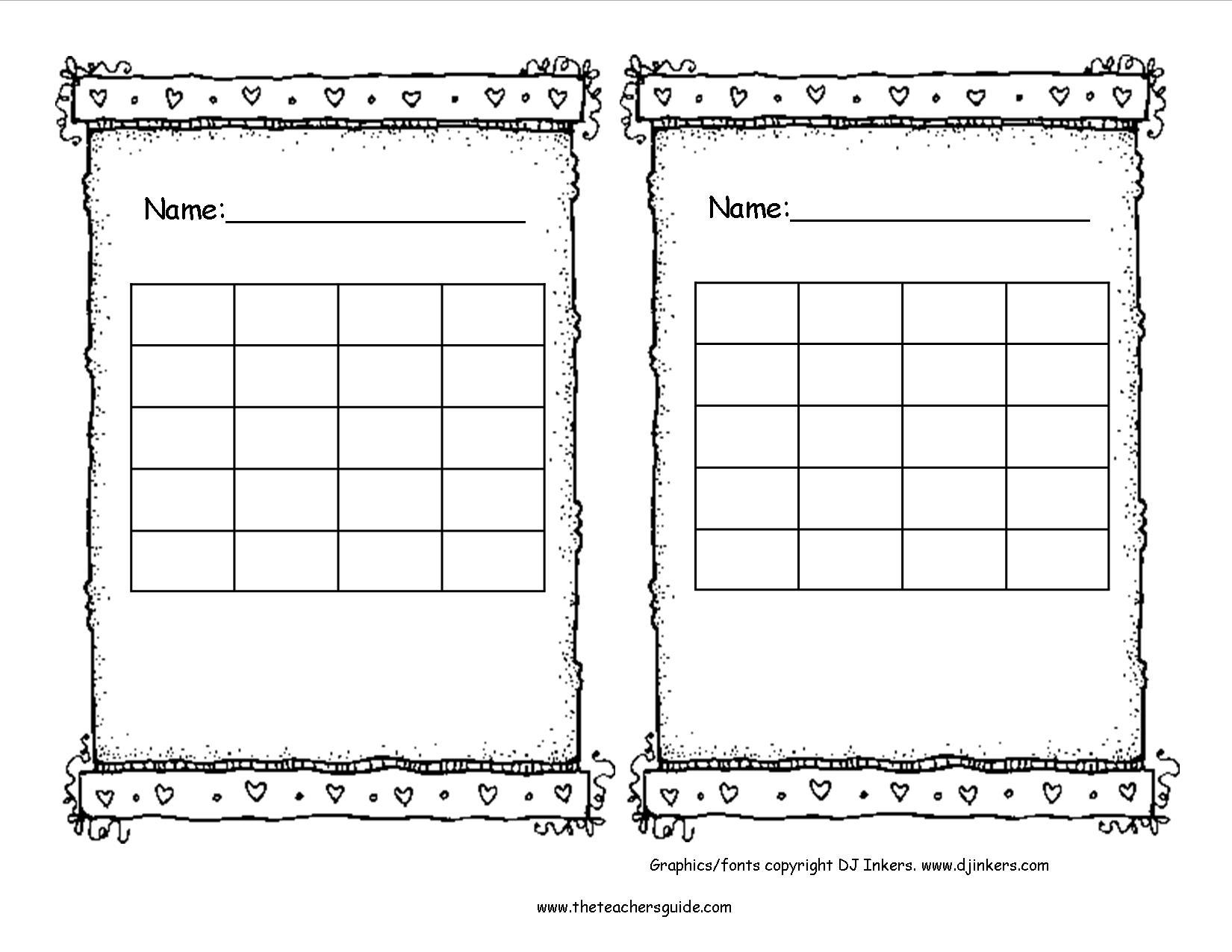 Free Printable Reward and Incentive Charts