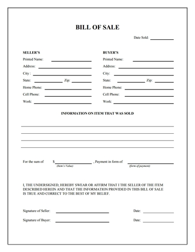 bill of sale form free download   Demire.agdiffusion.com