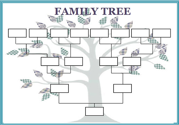 Blank Family Tree Chart Template | Geneology | Pinterest | Blank