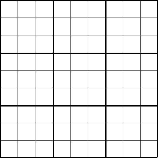 picture relating to Printable Sudoku Grids called Blank Printable Sudoku Grids keep fresh new