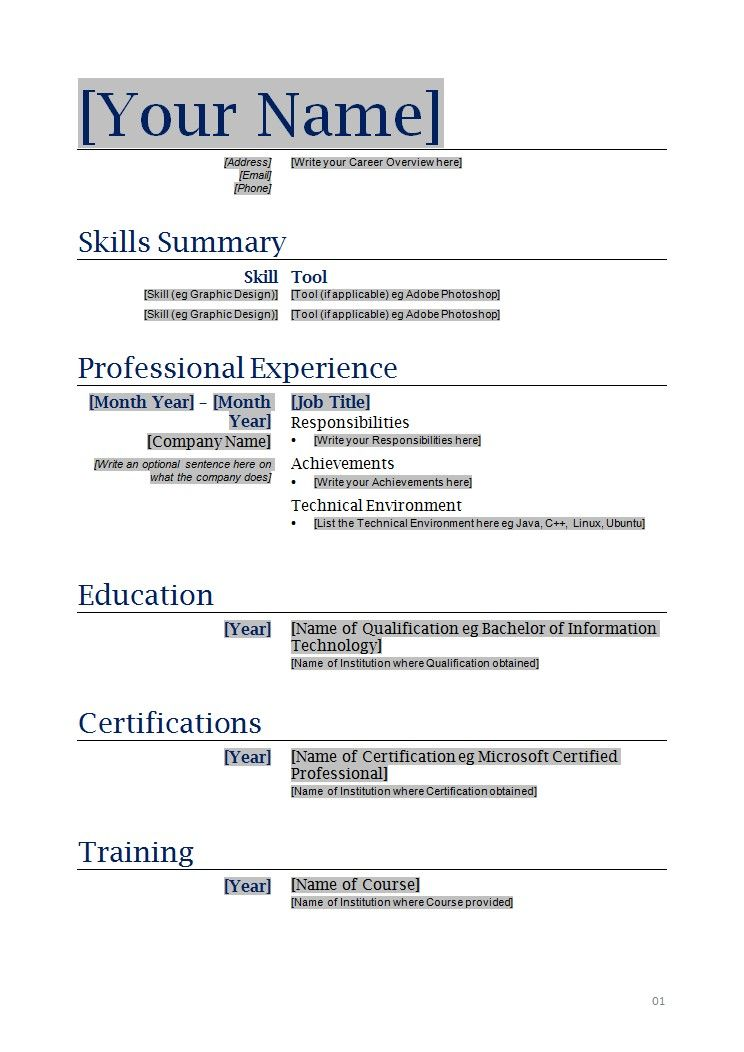 print out resume template   zrom.tk