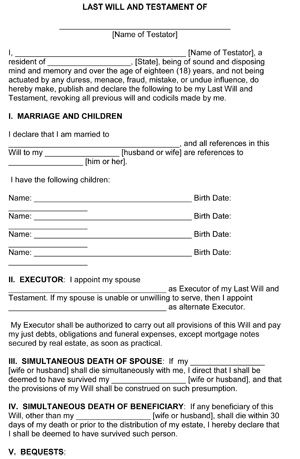 free printable living will blank form   Erkal.jonathandedecker.com