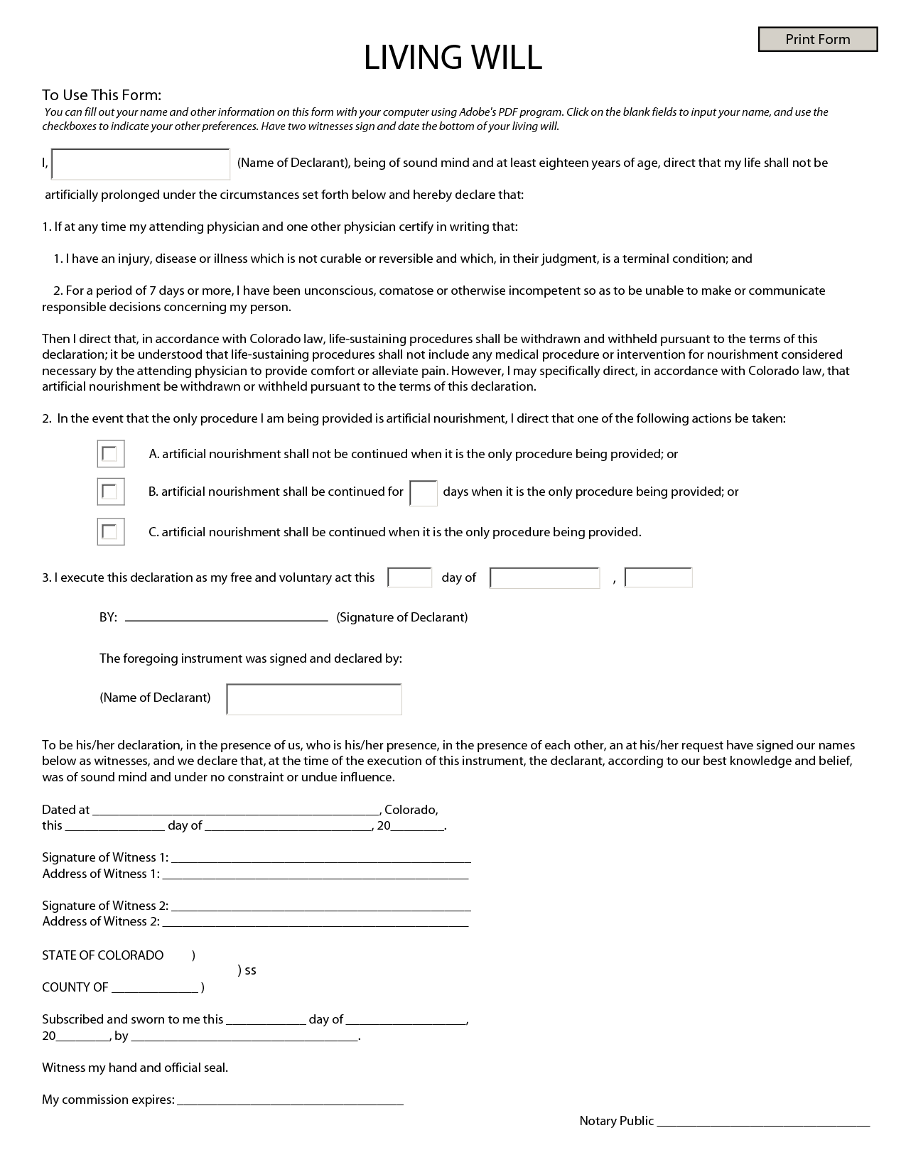Last Will And Testament Blank Forms   Fill Online, Printable