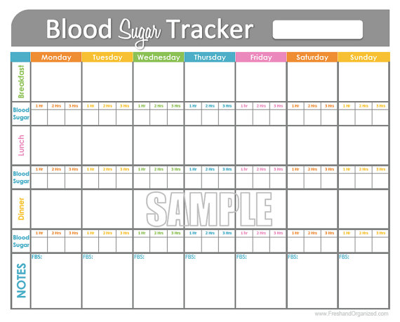 blood glucose tracker printable
