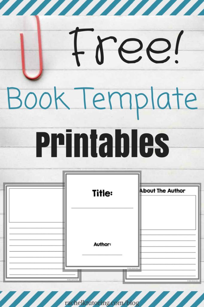 Free Book Template Printables   Rachel K Tutoring Blog