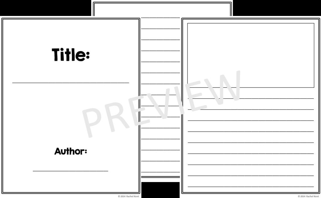free book writing template printable
