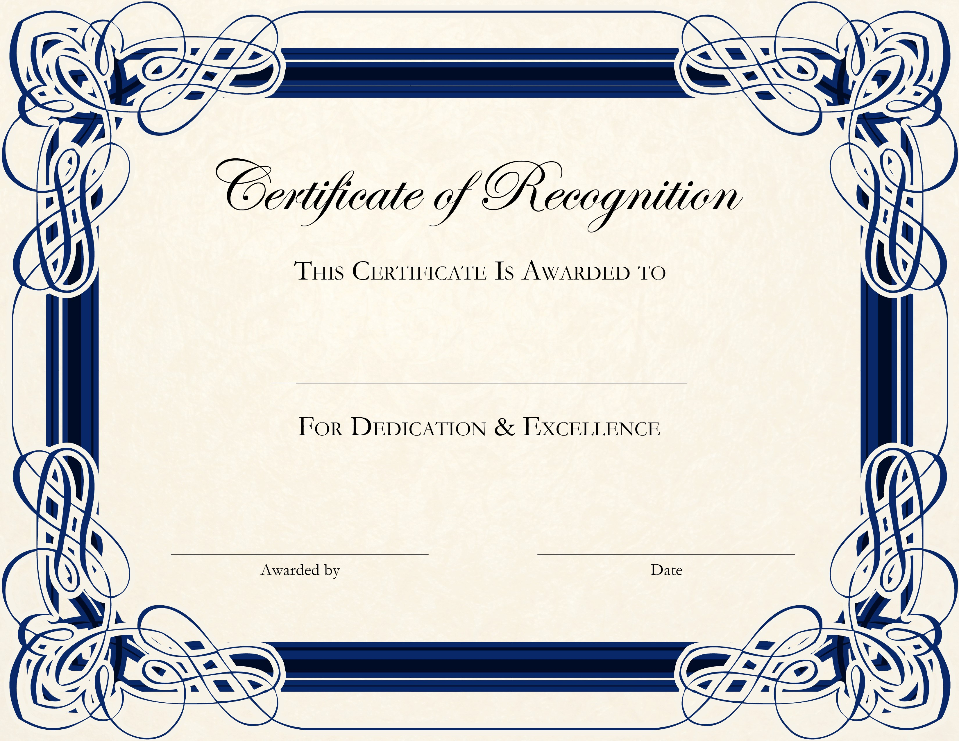 Certificate Template Free Printable   FREE DOWNLOAD
