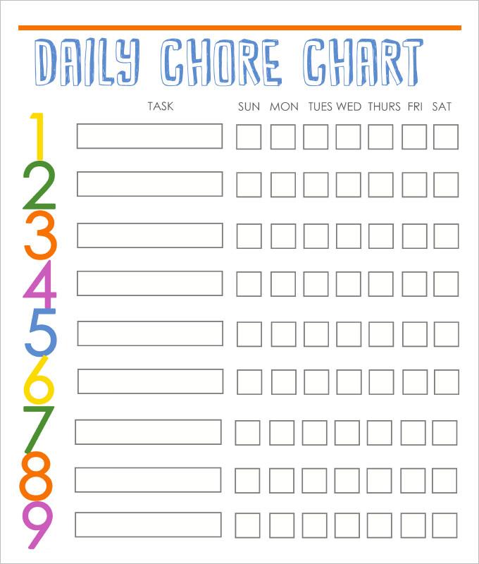 chore template free   Demire.agdiffusion.com