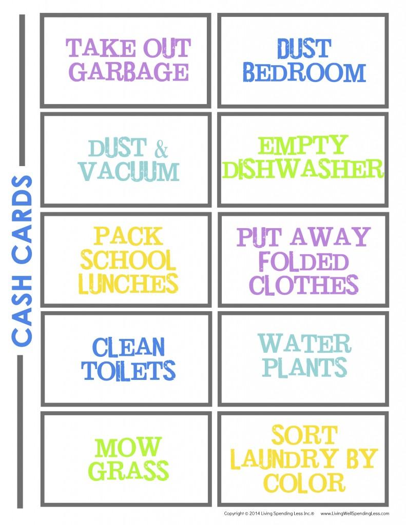 DLTK's Custom Chore Charts