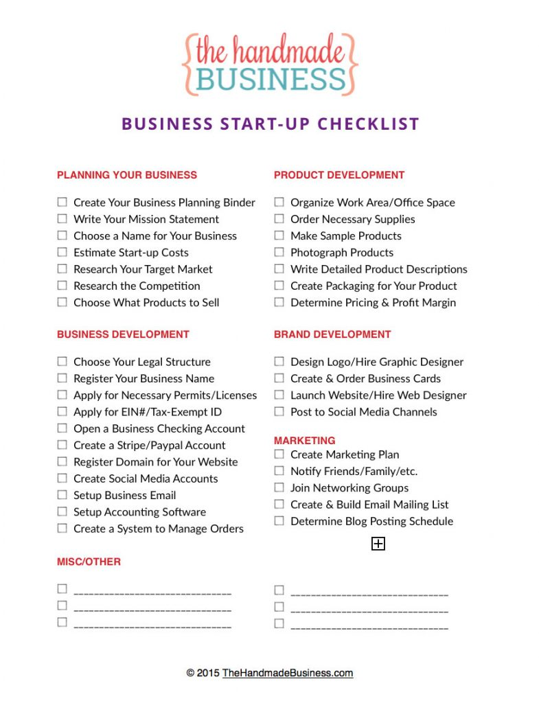 30 Printable Checklists | Documents and PDFs