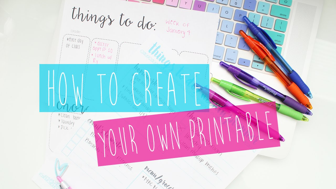 How To Create Printables and Printable Artwork For Your Home + A