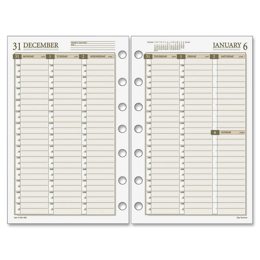 Daytimer Calendar Template Daily Planner Page Template Free