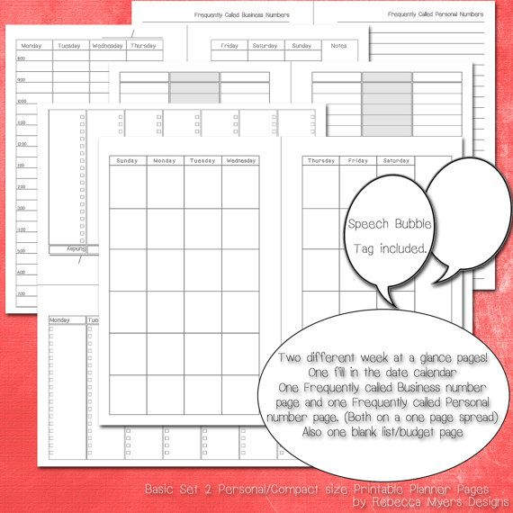 Day Runner Vertical Weekly Planning Pages   White Printing Company