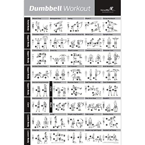 Amazon.: NewMe Fitness Dumbbell Workout Exercise Poster   NOW
