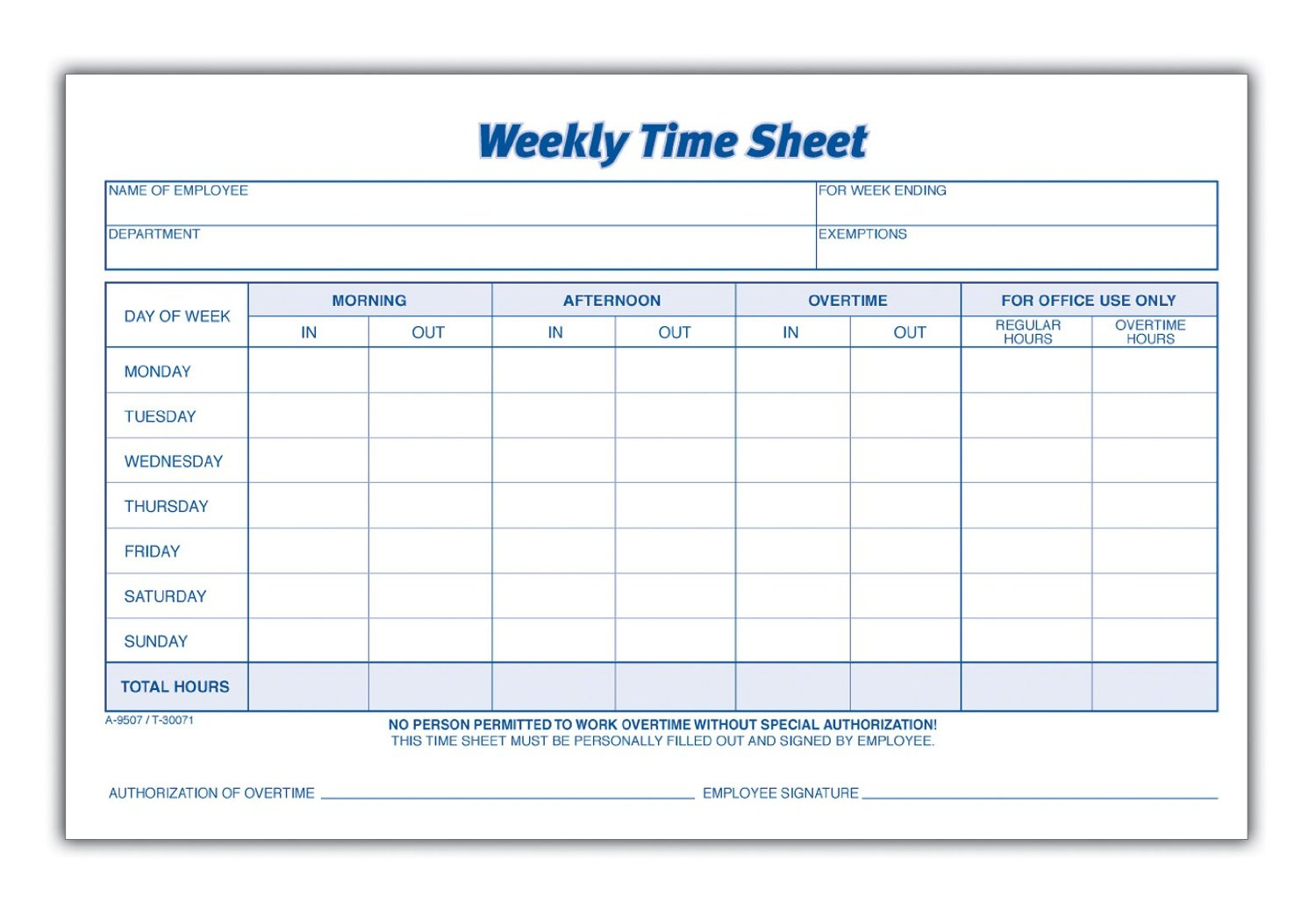 image about Time Sheet Printable named Personnel Period Sheets Printable retail outlet refreshing