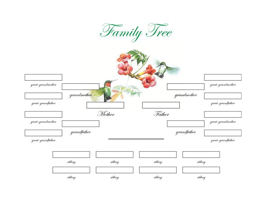 50+ Free Family Tree Templates (Word, Excel, PDF)   Template Lab