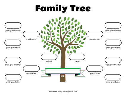 Free Family Tree Templates   Printable PDF, DOC Family Tree Templates