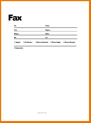 Standard Fax Cover Sheet Templates | Free Fax Cover Sheet Template