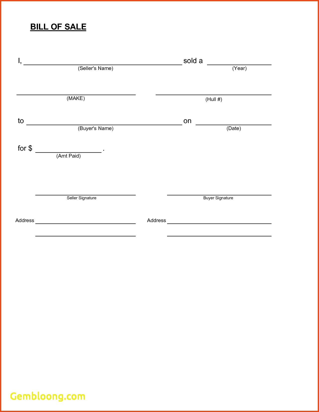 blank bill of sale form printable   Ibov.jonathandedecker.com