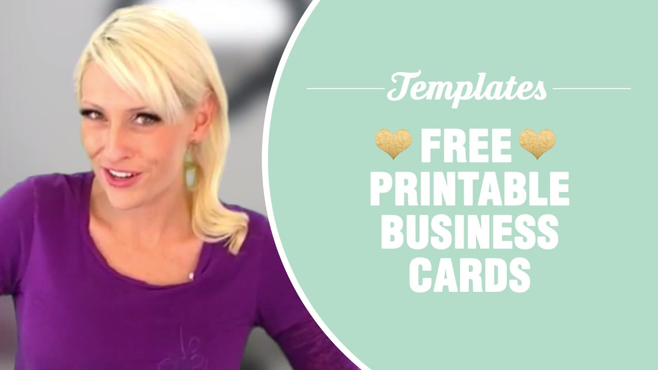 Free printable business cards   TEMPLATES INCLUDED   YouTube