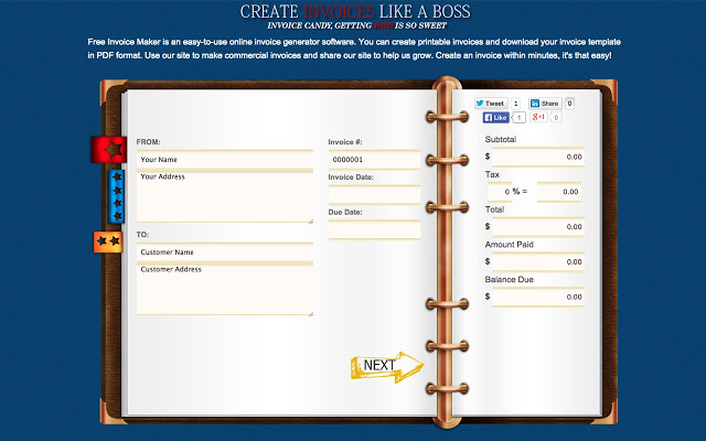 Free Printable Invoices Templates Printable Invoice Forms For Free