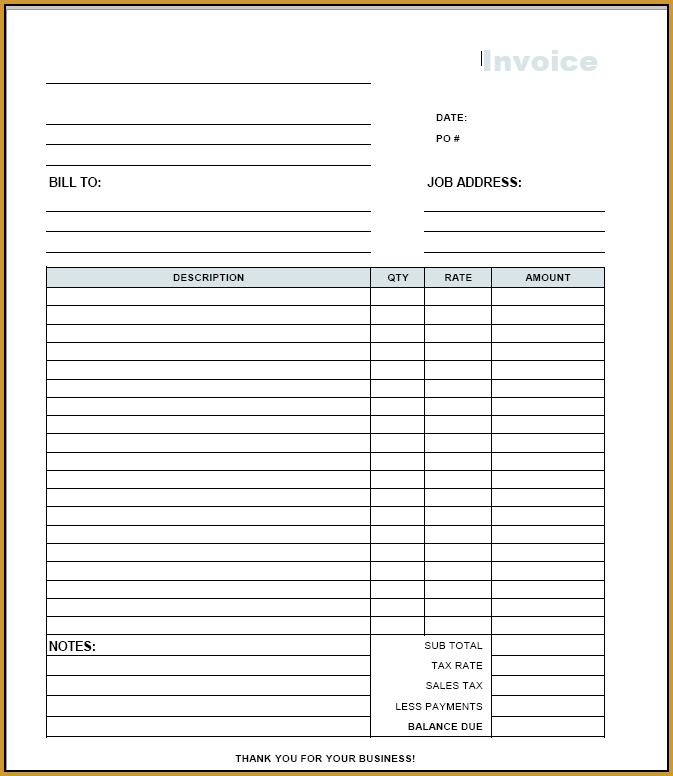 Charming Ideas Free Printable Invoices Printable Free Invoice