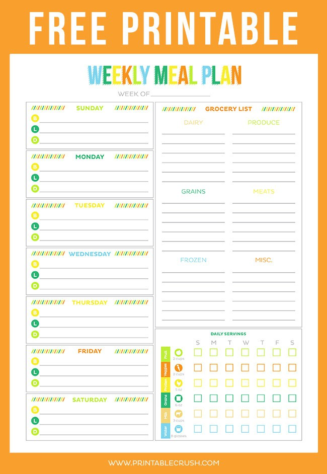 meal planners free   Demire.agdiffusion.com