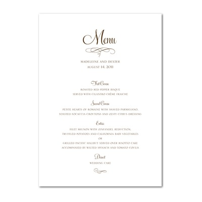 photograph about Free Printable Menu Templates called Absolutely free Menu Template Printable retail outlet fresh new