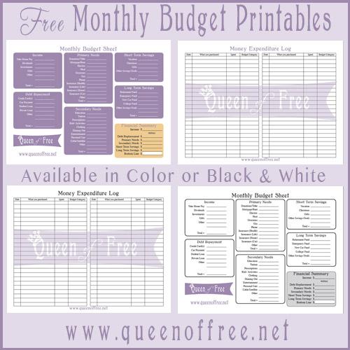 Free Budget Planner Printable   Printable Finance Planner