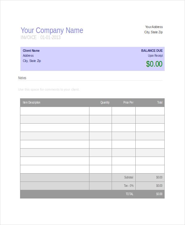 Free Invoice Generator   Chrome Web Store