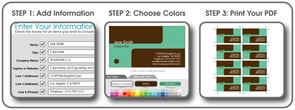 FreePDFCards: Create Printable Business Cards Online