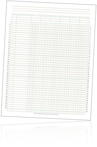 Columnar Pad Paper