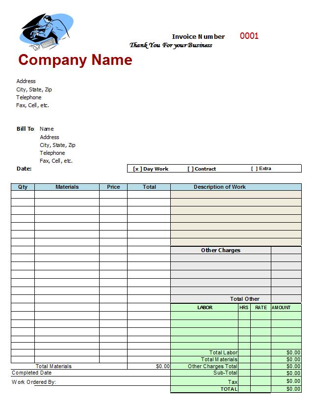 Auto Repair Invoice Template | Free Auto Repair Invoice Template