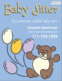 Babysitting Flyer Templates and Ideas
