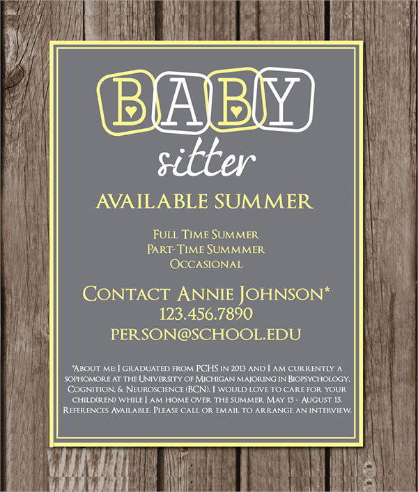 11+ Babysitting Flyers | Sample Templates
