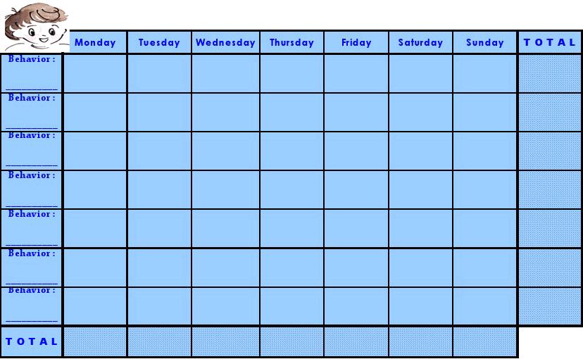 free printable behavior chart templates