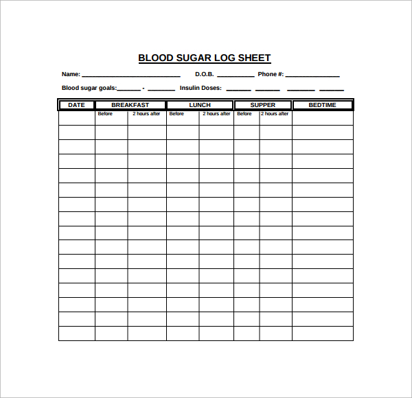 monthly diabetic log sheets   Ibov.jonathandedecker.com