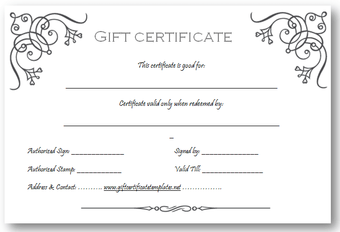 Art business gift certificate template | Beautiful Printable Gift